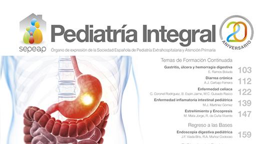 Publicado el segundo volumen de gastroenterología de Pediatría Integral