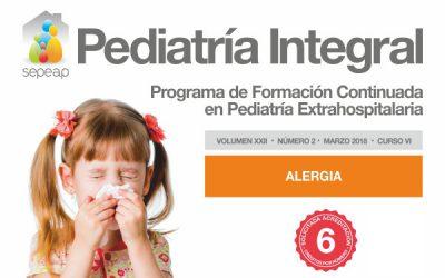 Publicado el primero de los dos números de Pediatría Integral dedicado a las alergias