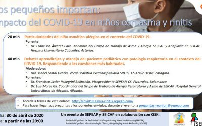 """Webinar """"Los pequeños importan: Impacto del COVID-19 en niños con asma y rinitis"""""""