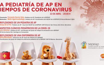 """Webinar """"La pediatría de AP en tiempos de coronavirus"""""""