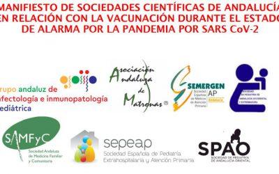 Manifiesto de Sociedades científicas de Andalucía en relación con la vacunación durante el estado de alarma por la pandemia por SARS CoV-2