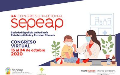 Los pediatras de primaria celebran el 34º Congreso de la SEPEAP de manera virtual