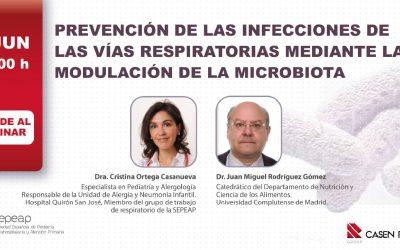 """Webinar """"Prevención de las Infecciones de las vías respiratorias mediante la modulación de la microbiota"""""""