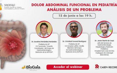 """Webinar: """"Dolor abdominal funcional en pediatría: Análisis de un problema"""""""