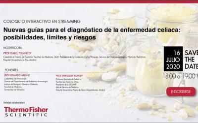 Coloquio online Nuevas guías para el diagnóstico de la enfermedad celiaca: posibilidades, límites y riesgos