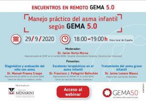 Webinar Manejo práctico del asma infantil según GEMA 5.0