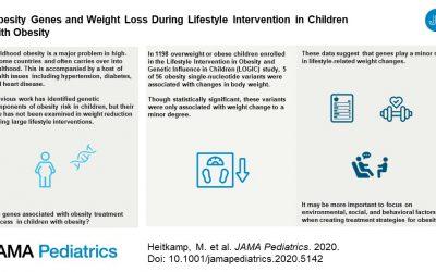 Los genes de la obesidad y la pérdida de peso durante la intervención en el estilo de vida en niños con obesidad