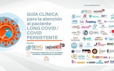 48 sociedades científicas y asociaciones de pacientes consensúan una Guía Clínica de atención al Long COVID